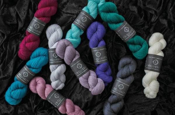 Exquisite contains 80% of the finest Falkland Island Wool and 20% Mulberry Silk by West Yorkshire Spinners